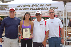 Zana Muno is the 2012 Beach Volleyball Player of the Year