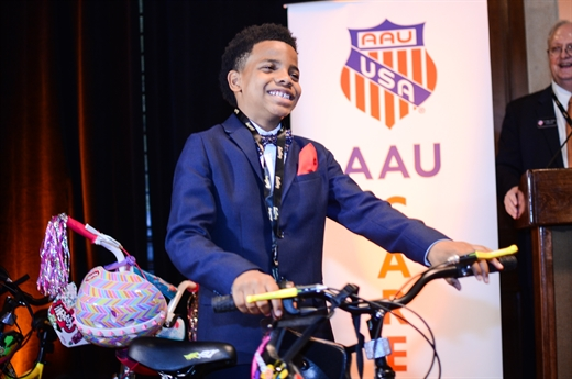 AAU Cares Initiative Kicks Off with Donation of Bicycles to Youth in New York City