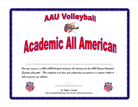 AAU Announces the 2014 AAU Academic All Americans
