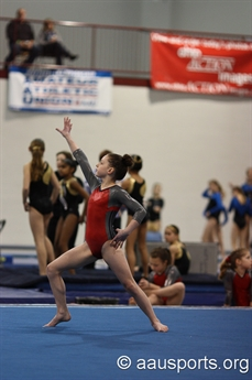 Flip for the AAU Gymnastics Winter National Championship