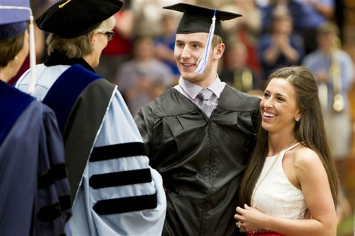 Paralyzed College Student Chris Norton Walks Across Stage at Graduation